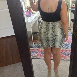 Missguided Skirts - Snake skin leather skirt